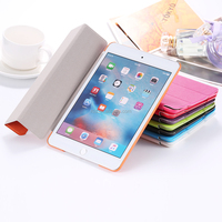 2016 best seller minion case unbreakable durable pu leather stand case for ipad mini 4