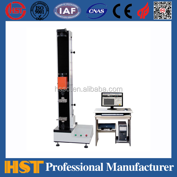 New type: eletronic universal testing machine, single column plastic tensile strength tester