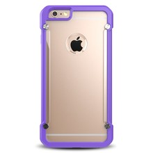 Attractive appearance hard clear screw metal bumper case for iphone 5