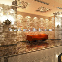 Paintable lightweight 3d effect interior wall panel luxury wallpaper bamboo