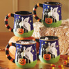 Christmas mug Halloween pumpkins snowman embossed ceramic coffee mug grouting porcelain mug with own design