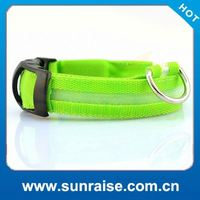 High Quality Night Safety embroidered leather dog collars