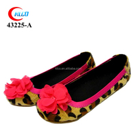 Beautiful with red flower decorating girls dressy fancy leisure shoes