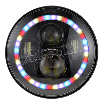 7 inch 40W RGB Bluetooth Control Led Headlight for 4x4  Wrangler FJ Cruiser