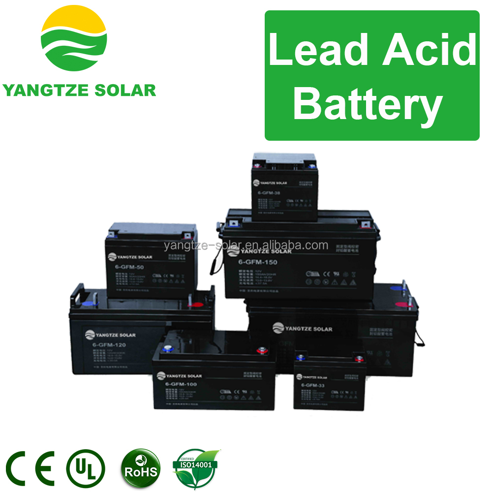 Lead acid dry cell solar battery 12v