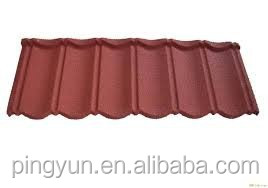 sun stone coated metal roof tile for home villa house