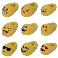 Free sample custom poop shoes cute stuffed plush emoji slippers/ Hot selling emoji plush shoes for sale / Emoji Pillow Shoes
