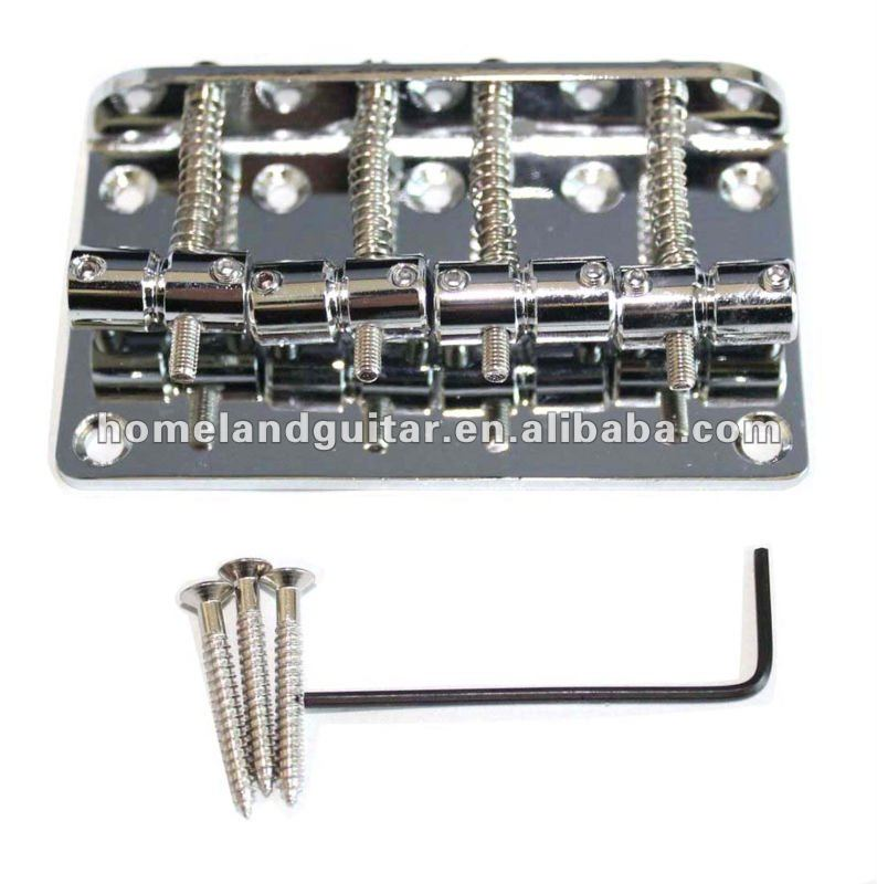 Chrome 4 string hard tail fixed Electric Bass Guitar bridge