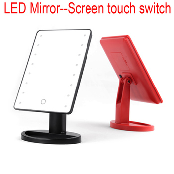 New moldel plastic stand desk touch screen sensor Smarthome with samrt led mirror concave mirror