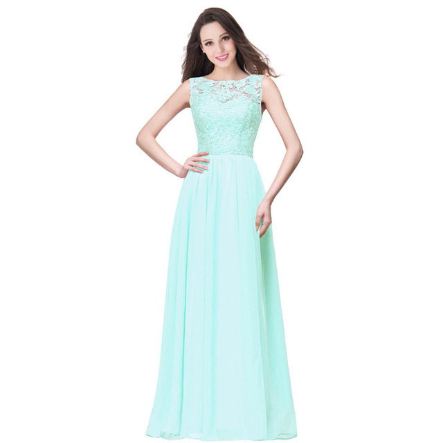 BR007 Robe Women's Real Image Purple Mint Green Navy Blue Lace Bridesmaid Dresses Long