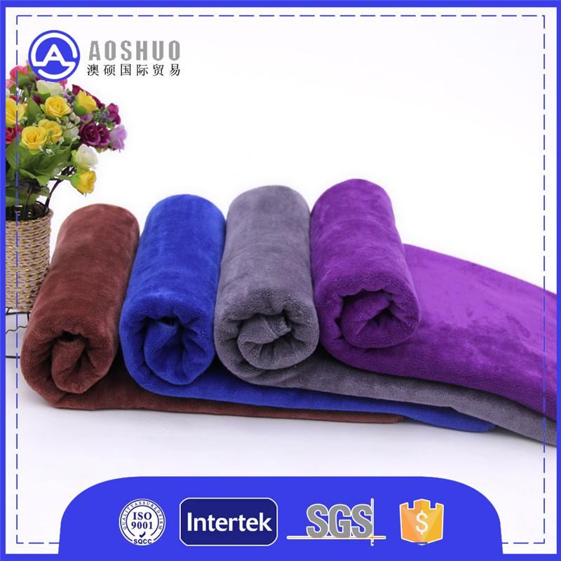87% and 13% 60cm*200cm bedroom polyester coral fleece towel microfiber car cleaning cloth