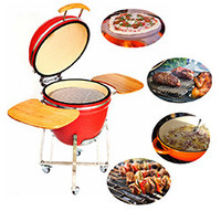 Disposable terracotta barbecue stone grill and smoker
