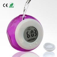 Multi Color Mini LCD Table Desk Water Power Clock
