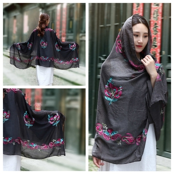 Fashion Embroidered scarf High Quality Beautiful Scarf Hijab Fashion Headwear Pure wholesale Scarves