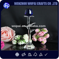 luxury new arrive romantic rose valentine's gift crystal trophy crystal award christmas gifts