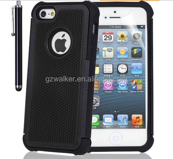 2015 Hot Selling Factory Price Cell Phone Rugged Case with Football Lines for iphone 5 5s, Mobile Phone Accessory