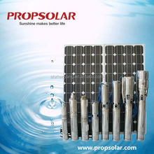 best price solar powered submersible water pumps for agriculture with 40M water head and 3.5CBM/H water head