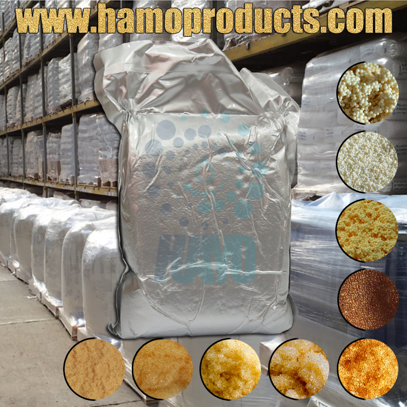2017 HAMO Offer Food Grade Anion Cation Ion Exchange Resins