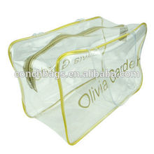 Clear PVC Bag with Plastic Zipper and Slider, OEM Orders are Welcome