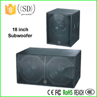 SPL DJ speaker powered subwoofer DJ sound box dual 18 inch pro subwoofer speaker box
