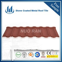 red color classical seven wave tiles metal roof tile with green steel sand coated