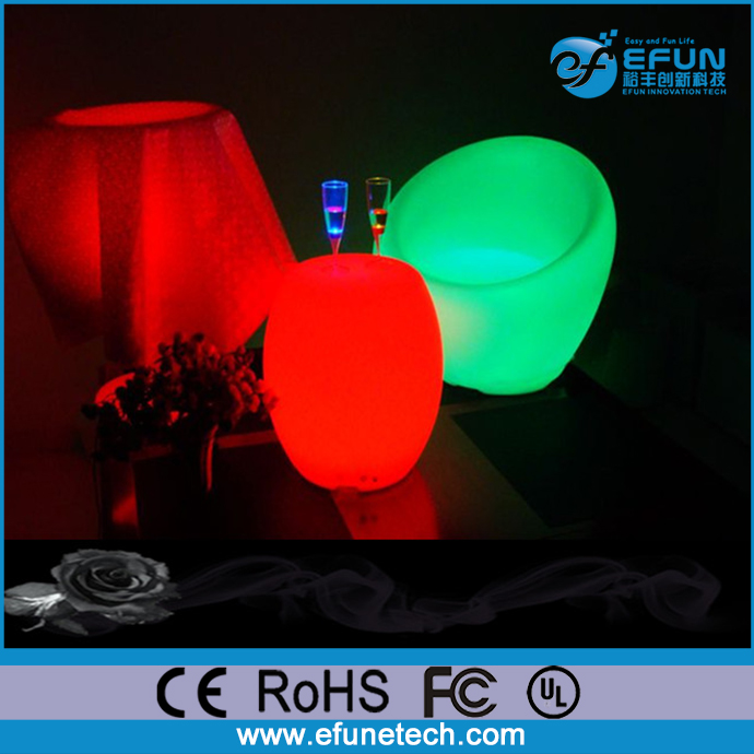 Light source SMD leds illuminated rgb color changing rechargeable led round egg-shaped coffee table