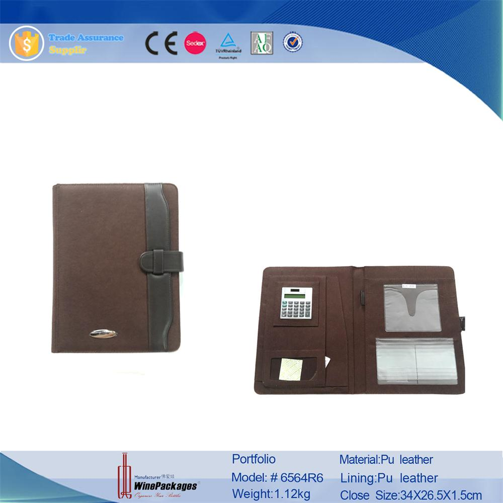 A4 Leather Business Portfolio Organiser/portfolio folder for men