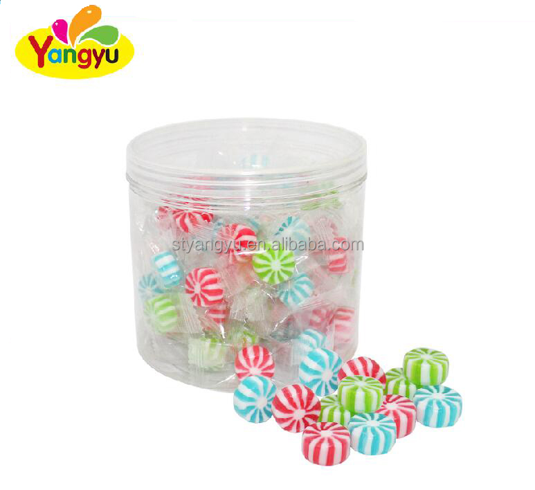 Fruit Flavor filled Hard Candy with Whirlpool type and assorted color
