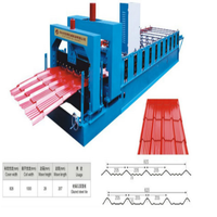 iron Glazed roofing cold making machine for home building material , roll forming machine