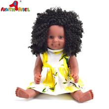 Wholesale 16'' vinyl black children toys doll maufacturer