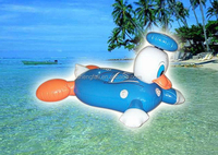 Cartoon animal shaped floating toys PVC inflatable baby bath seat