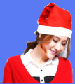 Wholesale christmas santa hat avaliable with customer logo