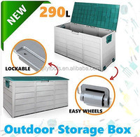 New Lockable Outdoor Storage Box Container Weatherproof Garden Deck Toy Shed