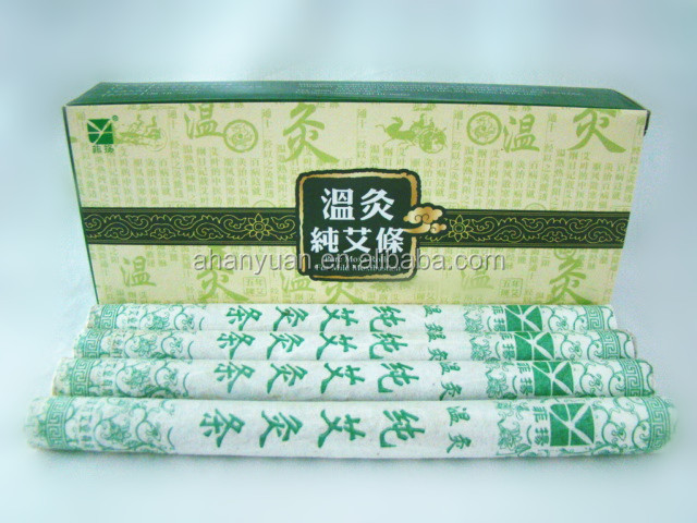 Good quality Pure moxa stick for mild moxibustion ,chinese traditional moxa stick