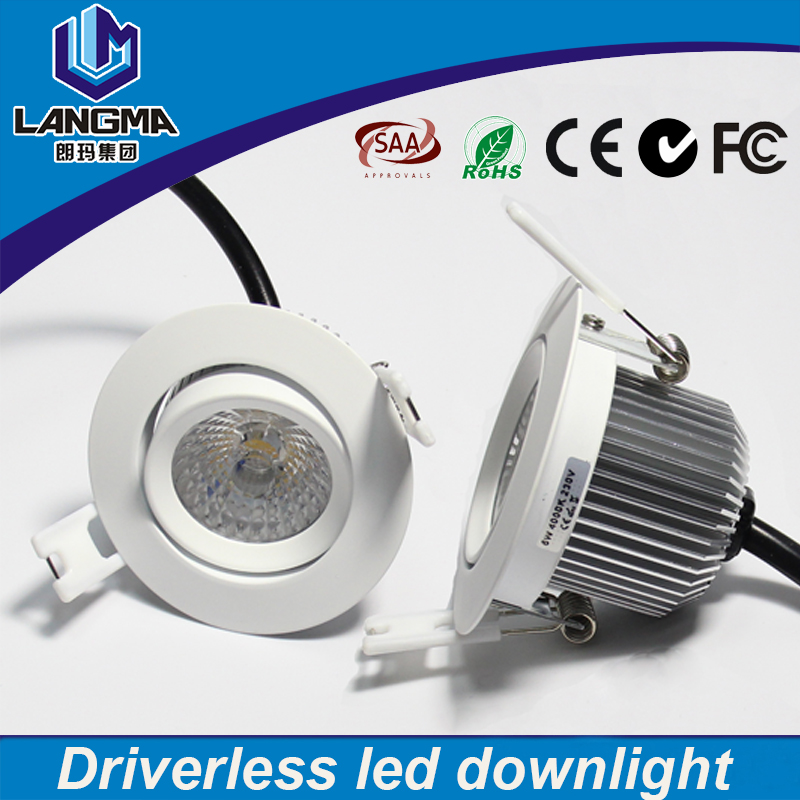 Langma AC COB 220V 6w driverless surface mounted led ceiling light