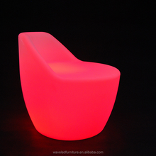 Wholesale plastic lighting bar chairs RGB colorful led bar chair with remote control