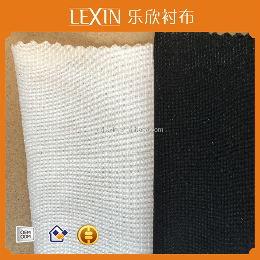 48gsm new products 100% polyester warp knitted interlining woven fusing interlining