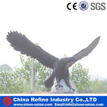 black Stone Eagle sculpture for garden