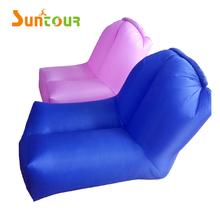 Nylon Single Inlet Chamber Inflatable Lounger Chair Home Garden Air Sofa Ultralight Inflatable Hammock Ideal for In&Outdoor