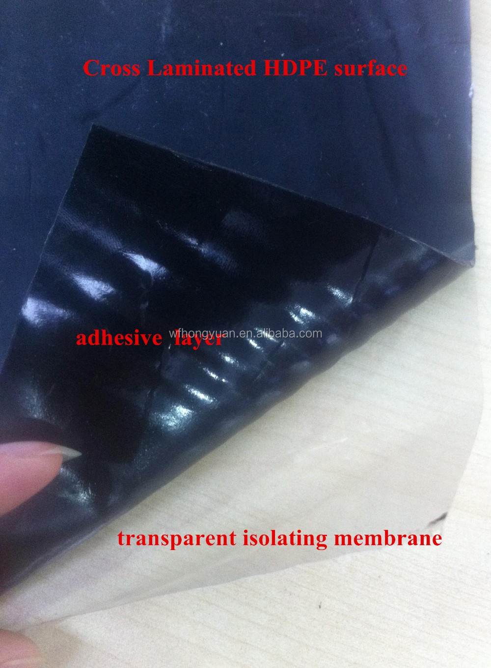 Cross Laminated HDPE Self-adhesive Bitumen Waterproof Membrane
