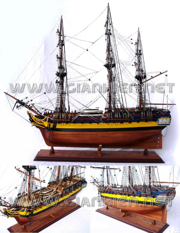 H.M.S DIANA WOODEN TALL SHIP MODEL - WOODEN DECORATION