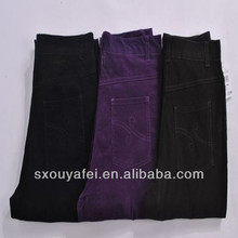 stock pants ladies' cotton trousers new design for spandex pants and color jeans