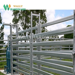 Chinese supplier steel rails cattle yard cow fence farm panels