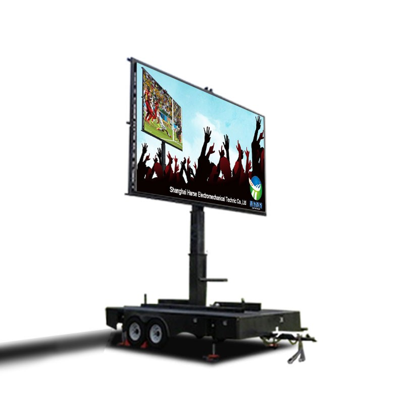 Hot Selling customize rental mounted l trailer led display