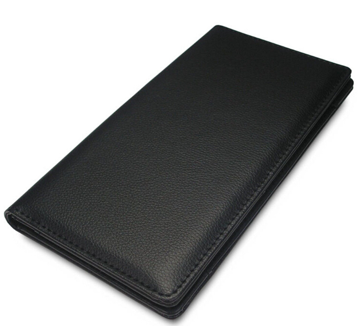 Black Luxury Faux Leather with Magnetic Pattern Bill Folders