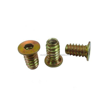 made in china M4 M10 M12 through hole hex socket fastener thread slotted insert nut for wood