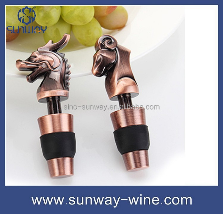 Custom Logo Animals Metal Copper Wine Stopper