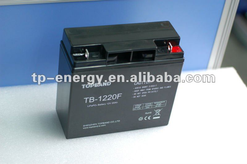 TOPBAND!!! 20ah lithium battery 12v for golf trolley