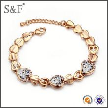 Crystal Fashion Luxury gold nugget bracelet