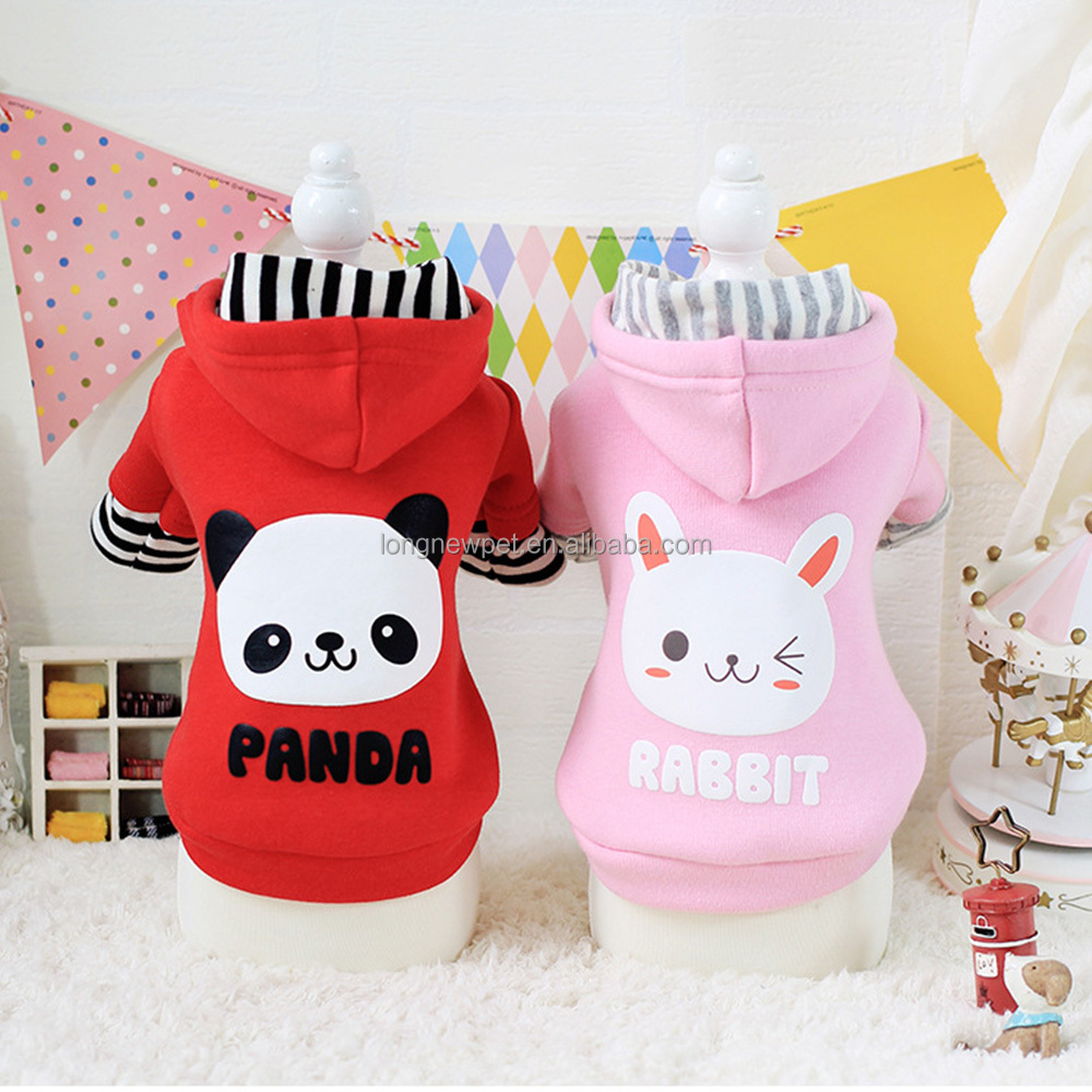Pet Clothes Online Cuddly Rabbit Bear Pattern Apparel Winter Clothes for Dogs